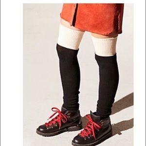 NWOT Free people color block leg warmers